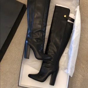 Alexander Wang black over the knee boots, size 36